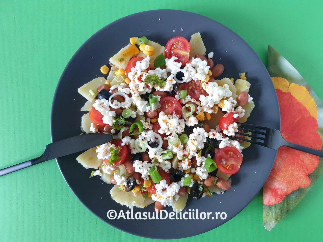 Portie de salata de cartofi Solterito
