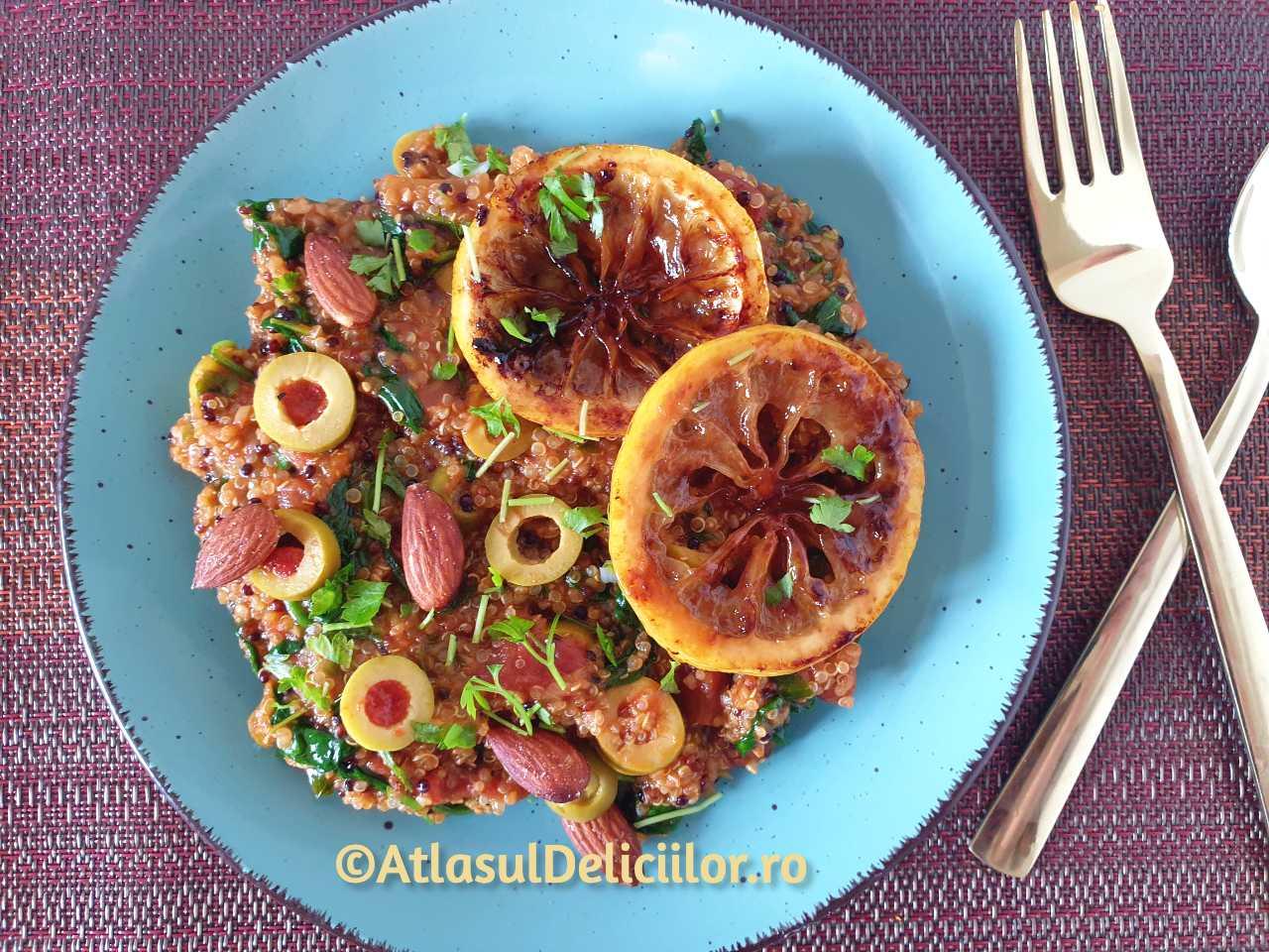 Portie de quinoa cu legume in stil marocan